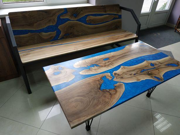 Стіл, лофт, з натурального дерева, стол река,