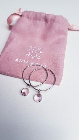 Srebrne kolczyki AniaKruk z kryształem Swarovskiego prezent walentynki