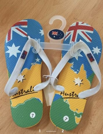 Пляжные шлепки, вьетнамки. Австралия. Резиновые.