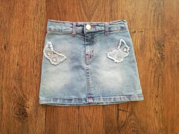 Spódnica jeansowa motylki 104 cm