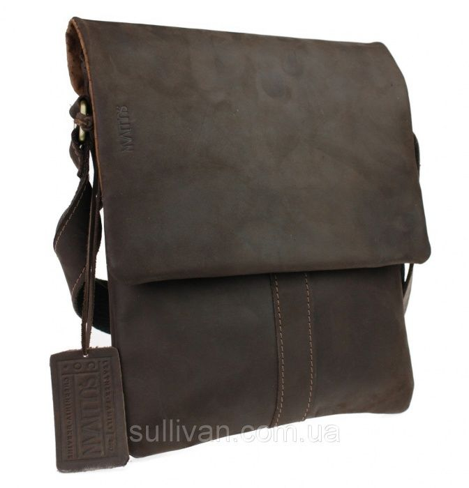 Кожаная мужская сумка сумочка натуральная кожа ручная работа Sullivan Козелец - изображение 1