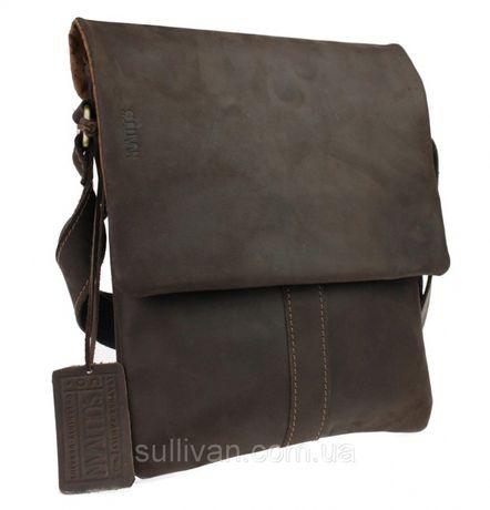 Кожаная мужская сумка сумочка натуральная кожа ручная работа Sullivan