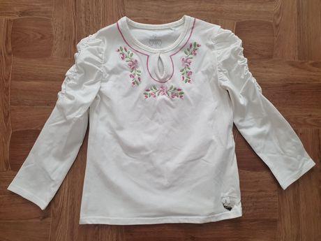 Вышиванка кофточка реглан белый школьная футболка новая