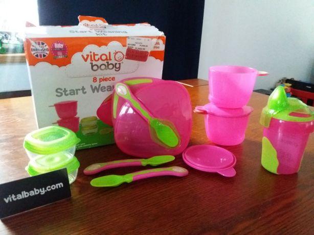 VITAL BABY zestaw startowy różowy 6mcy+ NOWY