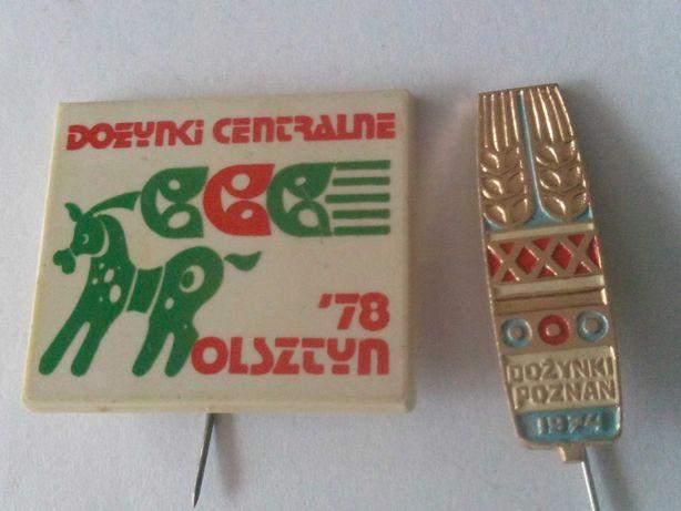 Odznaki dożynki Olsztyn 78 i Poznań 74 r.