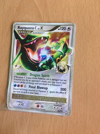Carta Pokémon Rayquaza C Lv. X 146/147 Holo Foil (Ultra Rara)