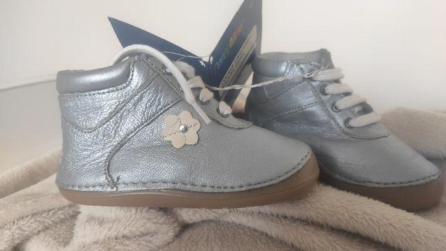 Skórzane buciki, nowe