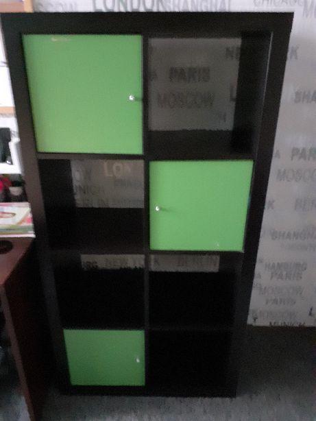 Szafka regał czarno zielona
