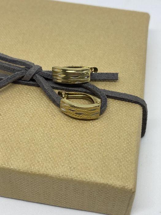 **Nowe złote kolczyki 1,10 gram , p.333-Lombard Stówka** Grudziądz - image 1
