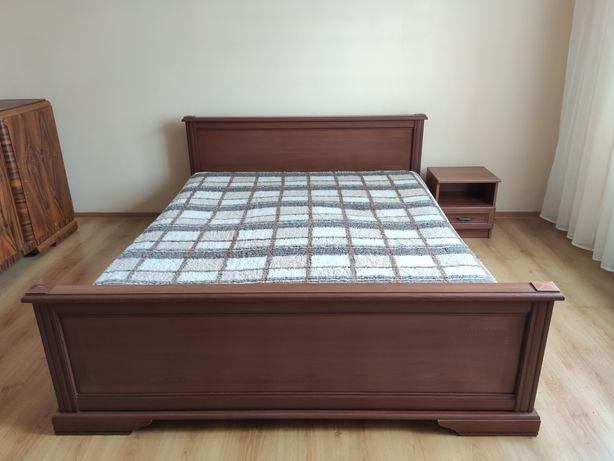 Łóżko sypialniane z szafką