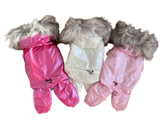 Зимний комбинезон с мехом для гламурных собачек!