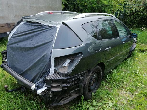 Peugeot 407 2.7hdi 2006 rok uszkodzony silnik, na czesci, CALY DO ZABR