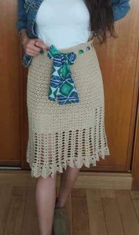 Saia crochet artesanal