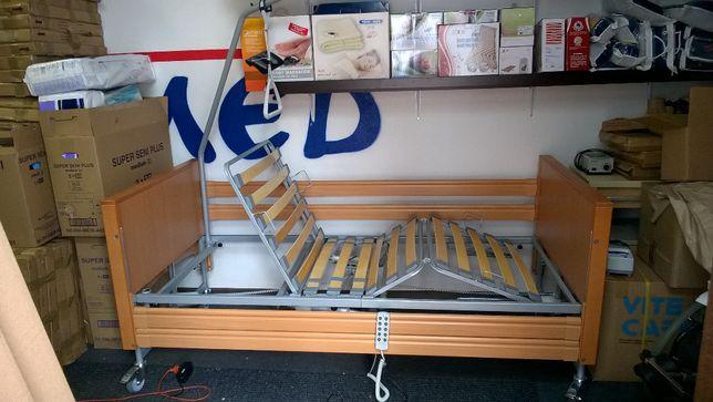 Nowe łóżko rehabilitacyjne z barierkami Elbur PB 331 kolor buk. Śląsk