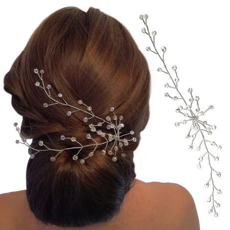 Ozdoba do włosów, gałązka, stroik, ręczne wykonanie