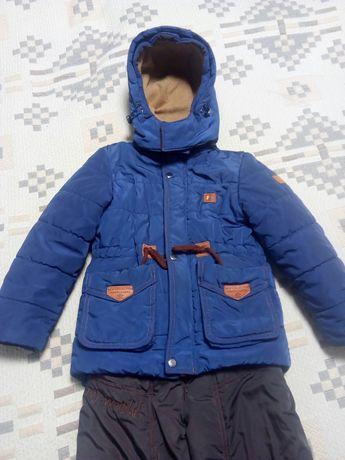 Зимний костюм для мальчика рост 110