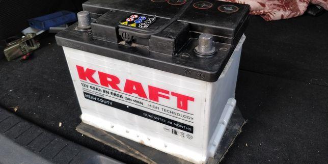 Акумулятор Kraft 12V, 65Ah, EN 680A, лівий плюс, L+, +/-