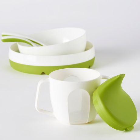 Детская посуда дитячий посуд миска тарілка тарелка ложка прибори