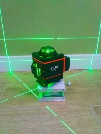Доставка бесплатная Лазерный Уровень HILDA 4D 16 линий Срочно