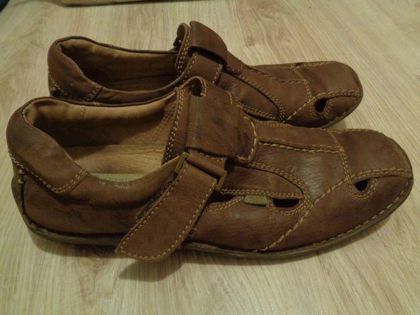 Sandały męskie rozmiar 40 skórzane buty męskie