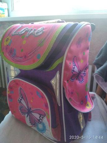 рюкзак школьный для девочки/ортопедическая спинка/много карманов