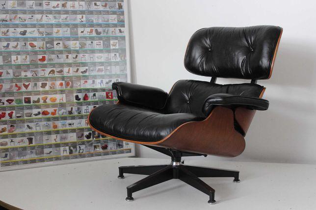 Fotel Lounge Chair Charles Eames orygina Herman Miller (Vitra) vintage