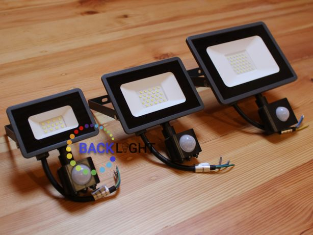 Прожектор LED з датчиком руху 10, 20, 30 Вт