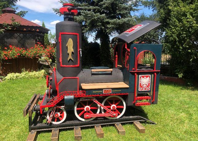 Grill lokomotywa - ręcznie wykonana