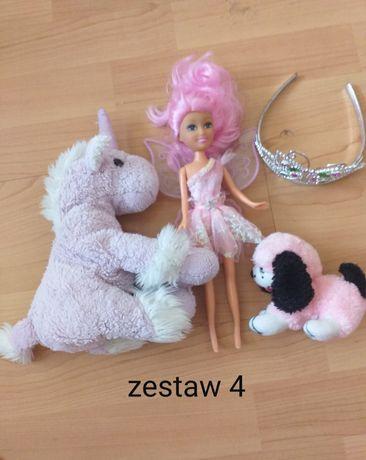 Zestawy zabawek pluszaki lalki jednorożec
