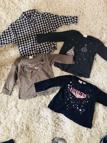 Bluzeczki, spodnie Zara, koszula Reserved 98-104