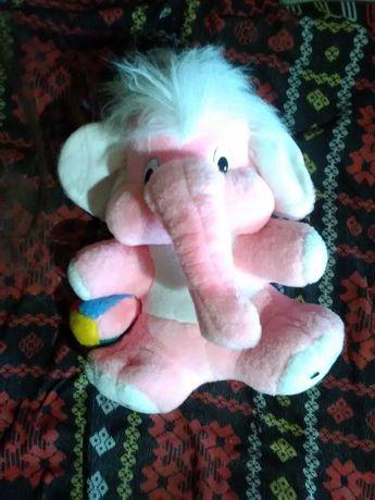 Мягкая игрушка – большой розовый слон
