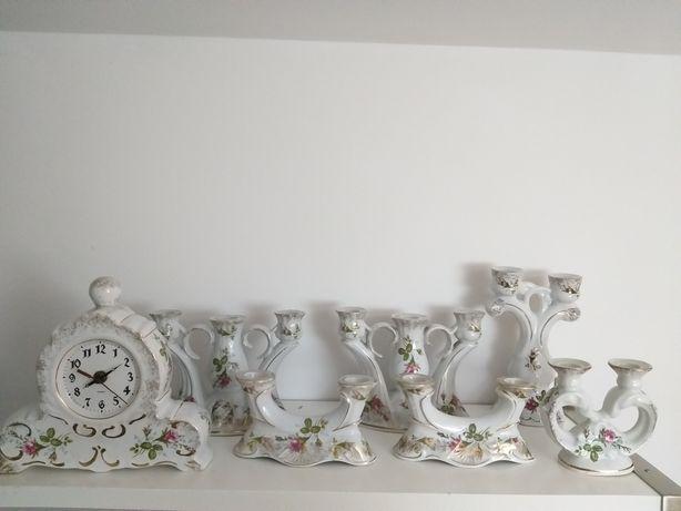 Porcelana Chodzież Zegar świeczniki