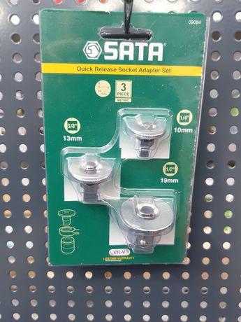"""Zestaw adapterów 1/4"""", 3/8"""", 1/2"""" FIRMY SATA"""