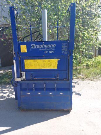 Belownica prasa do makulatury kartonu folii śmieci odpadów sklepu