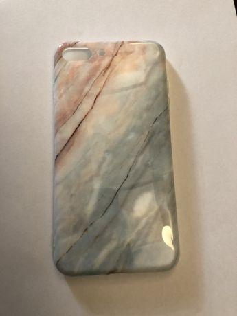 Мраморний чехол для iphone 8+