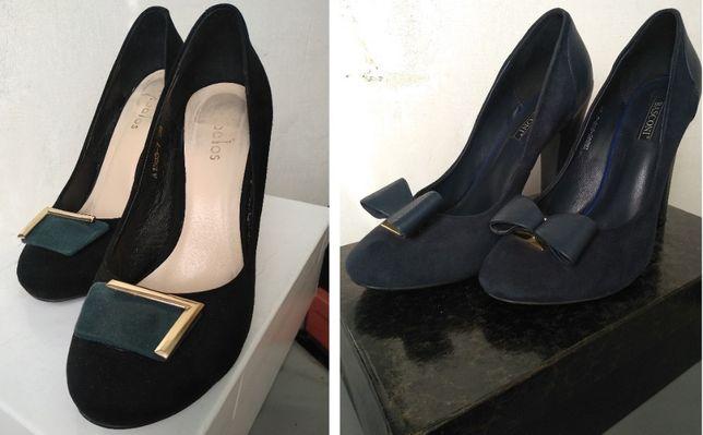 Туфли женские кожаные замшевые Stalos, Basconi