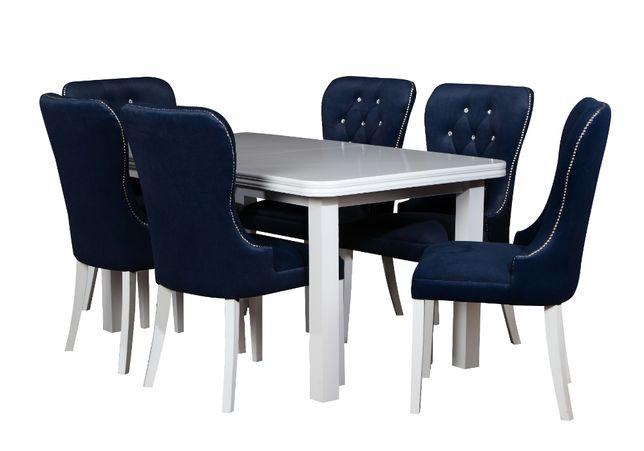 rozkładany stół i krzesła do salonu 160/200cm