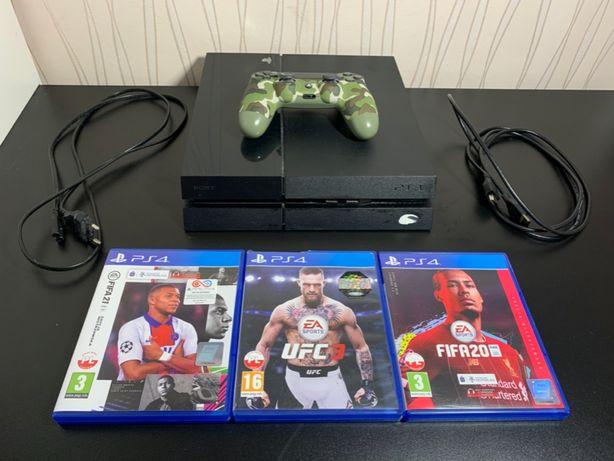 Konsola Sony PlayStation 4 500 GB + pad i 3 gry