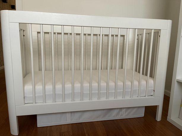 Łóżeczko dziecięce TROLL + wymienny boczek