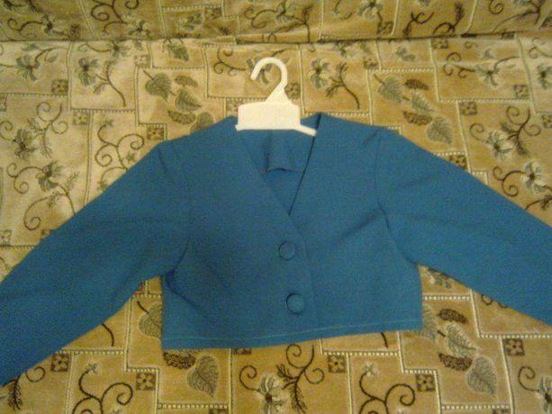 Школьная форма (пиджак+юбка) зеленая,цвета морской волны