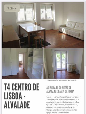 Apartamento T4 para arrendar em Alvalade