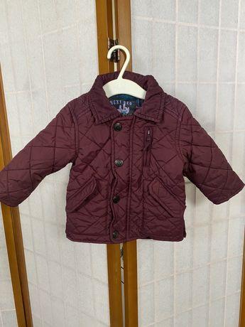 Next kurtka jesień bordowa pikowana