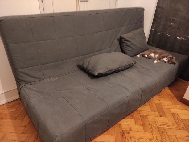Sofá cama cinzento IKEA
