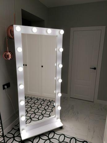 Голивудское гримерное зеркало 180х80см с бесплатной доставкой