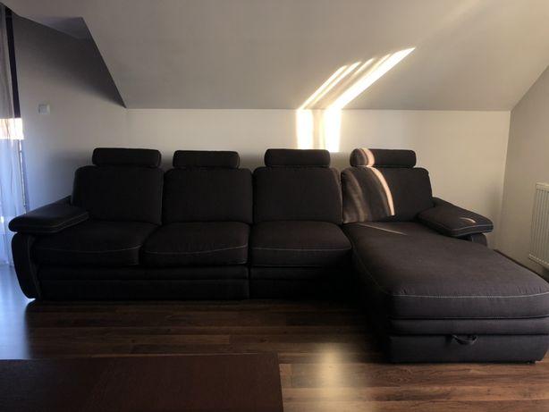 Narożnik kanapa sofa  rozkładana + zagłówki