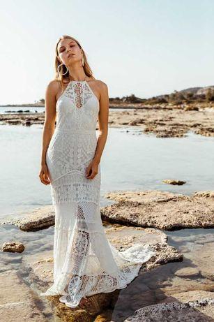 Suknia ślubna koronka, w stylu boho, rustykalnym Lovers Society UNA