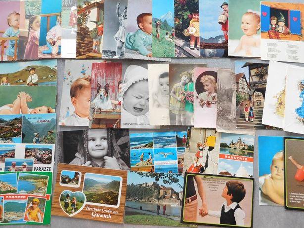 Sprzedam bardzo ładne pocztówki z dziećmi ok. 40 sztuk