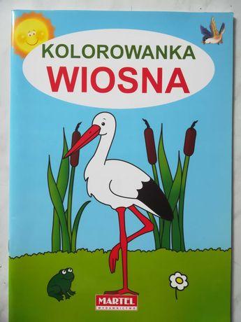 Wiosna kolorowanka