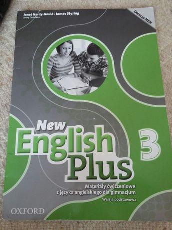 New English Plus 3, ćwiczenia dla gimnazjum, częściowo uzupełnione