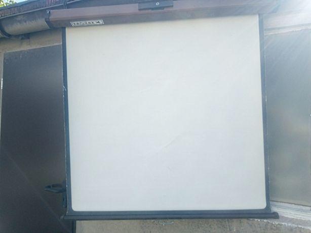 Ekran ręczny tablica rzutnik slajdy projektor klisze 100x100 Arctura